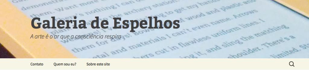 Meu blog pessoal sobre literatura e arte