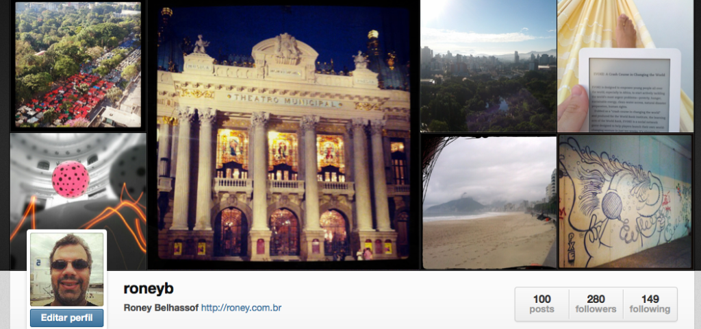 Meu perfil no Instagram