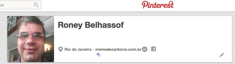 Meu perfil no Pinterest