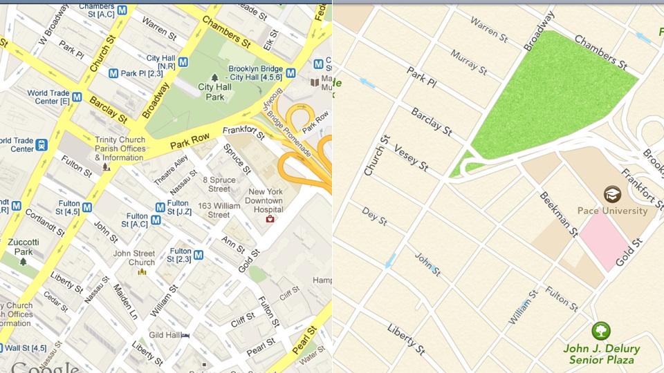 O que há por trás da disputa entre Google e Apple e os mapas?