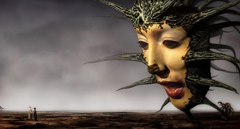 Imagem da Rainha das Sombras do filme Mirror Mask