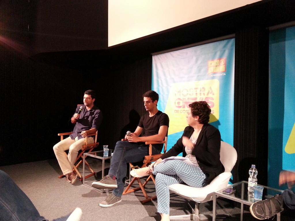 Júlio Molica (Gnews), Rodrigo Carvalho (Gnews) e Ana Paula Padrão (moderadora).