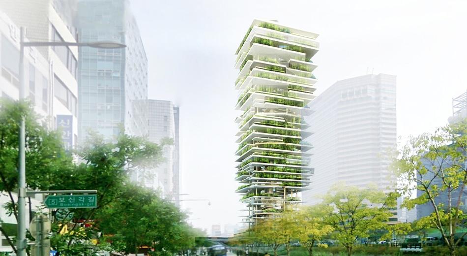 Fazenda vertical projetada por Zaa Archi